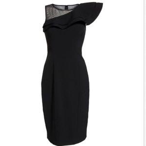 ELIZA J  Ruffle Neck Crepe Cocktail Dress